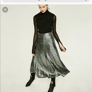 New with tags sequin midi skirt